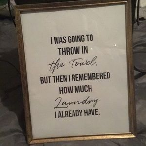 Laundry quotes framed icture